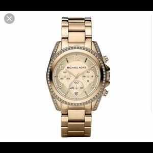 Michale Kors Blair Glitz Rose Gold Watch